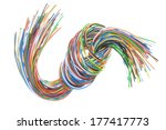 cable with knot isolated on... | Shutterstock . vector #177417773