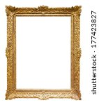 Gold Frame. Isolated Over...