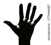 hands reaching each other | Shutterstock .eps vector #177446687