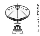 satellite dishes antenna  ... | Shutterstock . vector #177455243