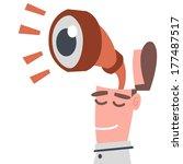 businessman with binoculars | Shutterstock .eps vector #177487517