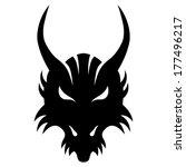 vector sign. dragon. | Shutterstock .eps vector #177496217