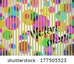 we love colors background with...   Shutterstock .eps vector #177505523