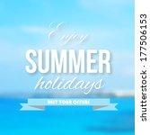 summer background | Shutterstock .eps vector #177506153