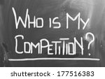 who is my competition concept | Shutterstock . vector #177516383