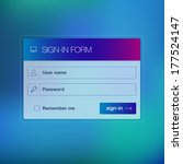 vector login form ui element on ...