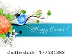 grungy easter background with... | Shutterstock . vector #177531383