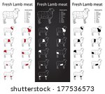 fresh lamb meat parts icons for ...   Shutterstock .eps vector #177536573