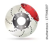 brake disc with caliper | Shutterstock .eps vector #177548207