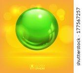 green glossy sphere | Shutterstock .eps vector #177567257