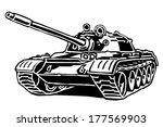 tank drawing on white... | Shutterstock .eps vector #177569903