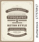 retro typographic design... | Shutterstock .eps vector #177570917
