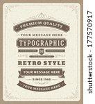 Retro Typographic Design...