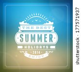 summer vector typography.... | Shutterstock .eps vector #177571937