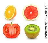fruits and vegetables  | Shutterstock . vector #177584177
