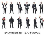 set of business people isolated ... | Shutterstock . vector #177590933