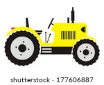 Tractor  Vector Icon  Yellow...