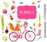 big spring set | Shutterstock .eps vector #177626033