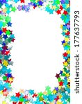 Confetti Colorful Frame Border...