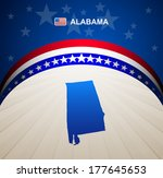 Alabama map vector background