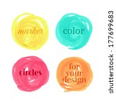 color circles drawn with... | Shutterstock .eps vector #177699683