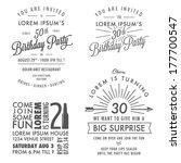 Set Of Adult Birthday...