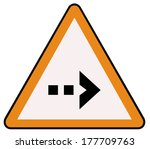 rounded triangle shape hazard... | Shutterstock .eps vector #177709763