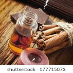 essential oil bottle with... | Shutterstock . vector #177715073