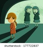 little girl being bullied by... | Shutterstock .eps vector #177722837