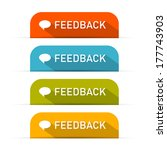 feedback icons set isolated on...   Shutterstock . vector #177743903