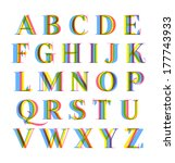 nice modern colorful alphabet... | Shutterstock .eps vector #177743933