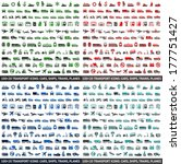 480 transport icons  cars ... | Shutterstock .eps vector #177751427
