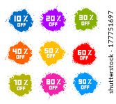 colorful discount labels ... | Shutterstock . vector #177751697