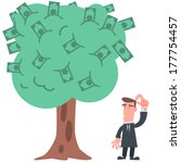 businessman with money tree | Shutterstock .eps vector #177754457
