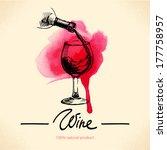 wine vintage background.... | Shutterstock .eps vector #177758957