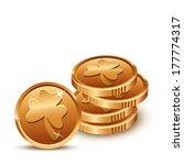 Lucky Golden Coins For St....