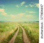 The Road In Rural Areas. Retro...
