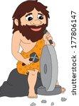 caveman wheel | Shutterstock .eps vector #177806147