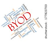 byod word cloud concept angled... | Shutterstock . vector #177823703