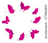 butterflies design   Shutterstock .eps vector #177832847