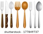 background,blade,cartoon,collection,cutlery,detailed,drawing,eat,food,fork,forked,graphic,group,home,household