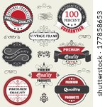 vintage labels and ribbon retro ... | Shutterstock .eps vector #177858653