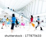 motion blurred people in the... | Shutterstock . vector #177875633