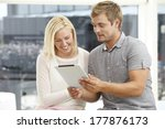 young couple using digital... | Shutterstock . vector #177876173