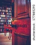 retro styled image of the door... | Shutterstock . vector #177885293