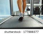 image of female foot running on ... | Shutterstock . vector #177888377