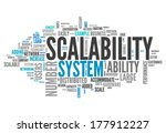 word cloud with scalability... | Shutterstock . vector #177912227