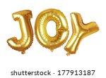 gold balloon font of upper case ... | Shutterstock . vector #177913187