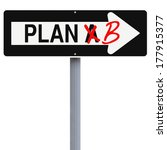 modified one way sign on...   Shutterstock . vector #177915377