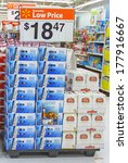 Small photo of GLOUCESTER, VA - FEBRUARY 13: A stacked pallet of Michelob Beer, Michelob is a 5% abv pale lager developed by Adolphus Busch in 1896 as a draught beer for connoisseurs. Brewed by Anheuser-Busch